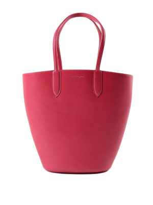 Alexander Mcqueen: totes bags - Basket Bag S calf leather tote
