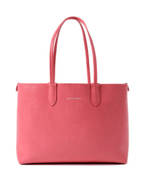 Alexander Mcqueen: totes bags - Coral leather small shopping bag