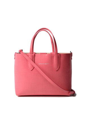 Alexander Mcqueen: totes bags - Grainy pink leather mini tote