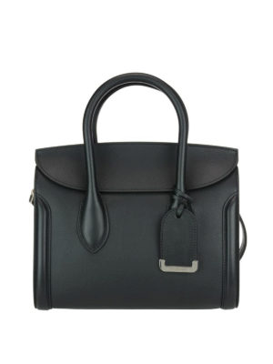 Alexander Mcqueen: totes bags - Heroine 30 black leather tote