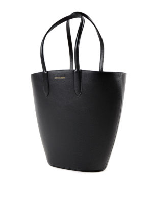 Alexander Mcqueen: totes bags online - Basket Bag leather small tote