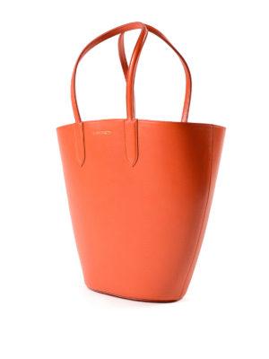 Alexander Mcqueen: totes bags online - Basket Bag S orange leather tote