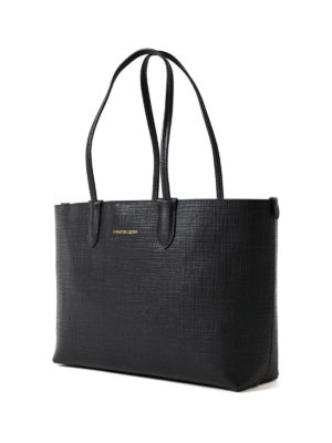 Alexander Mcqueen: totes bags online - Black leather small shopping bag