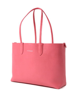 Alexander Mcqueen: totes bags online - Coral leather small shopping bag