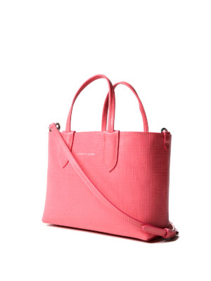 Alexander Mcqueen: totes bags online - Grainy pink leather mini tote