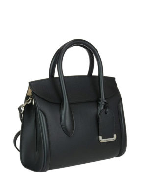 Alexander Mcqueen: totes bags online - Heroine 30 black leather tote