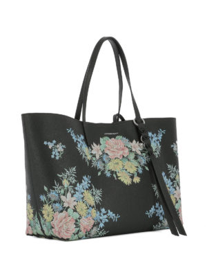 Alexander Mcqueen: totes bags online - Printed leather tote