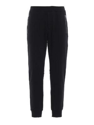 ALEXANDER MCQUEEN: pantaloni sport - Pantaloni da jogging neri in felpa di cotone