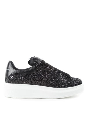 Alexander Mcqueen: trainers - Glitter sneakers with chunky sole