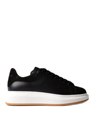 Alexander Mcqueen: trainers - Leather sneaker with suede inserts