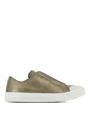 Alexander Mcqueen: trainers - Metallic leather low top sneakers