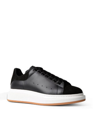 Alexander Mcqueen: trainers online - Leather sneaker with suede inserts