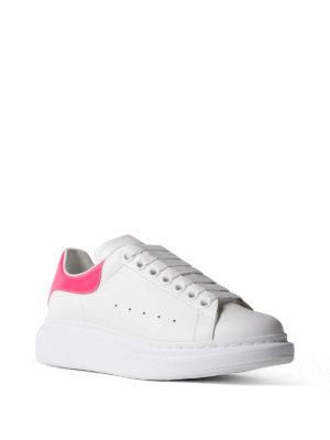Alexander Mcqueen: trainers online - Oversize fluo detail white sneakers