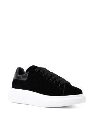 Alexander Mcqueen: trainers online - Oversize velvet sneakers
