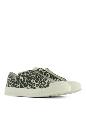 Alexander Mcqueen: trainers online - Printed leather low top sneakers