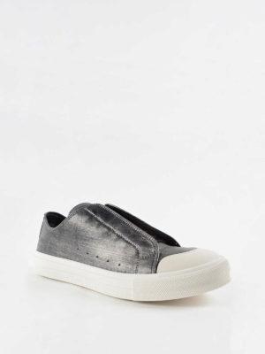 Alexander Mcqueen: trainers online - Vintage metallic leather sneakers