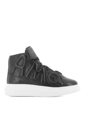 ALEXANDER MCQUEEN: sneakers - Sneaker Oversize AMQ alte in nappa nera