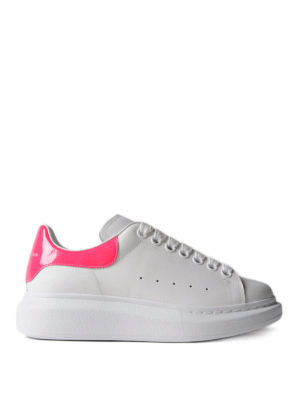 Alexander Mcqueen: trainers - Oversize fluo detail white sneakers