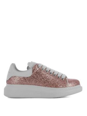 ALEXANDER MCQUEEN: sneakers - Sneaker Oversize in glitter rosa