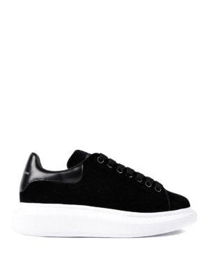 Alexander Mcqueen: trainers - Oversize velvet sneakers