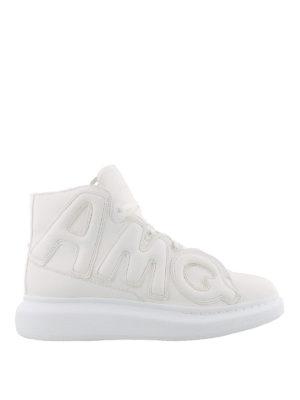 ALEXANDER MCQUEEN: sneakers - Sneaker Oversize alte nappa bianca