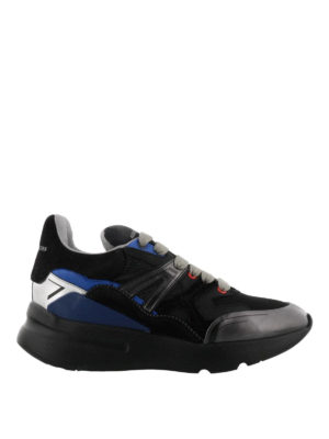 ALEXANDER MCQUEEN: sneakers - Sneaker Runner Patchwork multi-materiale