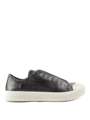 Alexander Mcqueen: trainers - Vintage metallic leather sneakers