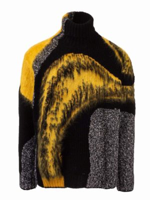 ALEXANDER MCQUEEN: Turtlenecks & Polo necks - Abstract patterned turtleneck jumper
