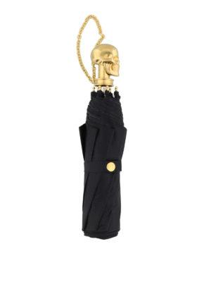Alexander Mcqueen: umbrellas online - Gold-tone wristlet Skull umbrella