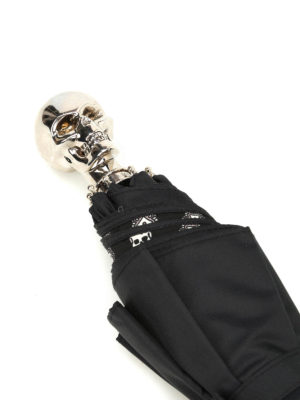 Alexander Mcqueen: umbrellas online - Skull handle collapsible umbrella