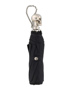 Alexander Mcqueen: umbrellas online - Skull umbrella with wristlet