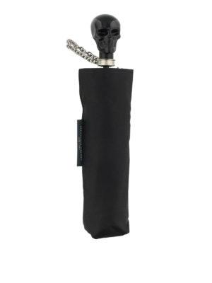 Alexander Mcqueen: umbrellas - Skull umbrella with chain wristlet