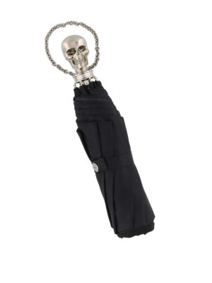 Alexander Mcqueen: umbrellas - Skull umbrella with wristlet