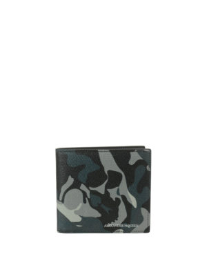 Alexander Mcqueen: wallets & purses - Camouflage leather wallet