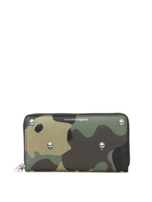 Alexander Mcqueen: wallets & purses - Camu print leather wallet