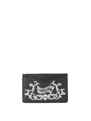 Alexander Mcqueen: wallets & purses - Coat of Arms leather card holder