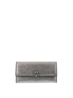 Alexander Mcqueen: wallets & purses - Continental Skull wallet