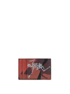 ALEXANDER MCQUEEN: portafogli - Portacarte Dancing Skeleton camu