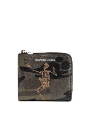 ALEXANDER MCQUEEN: portafogli - Portamonete Dancing Skeleton camu