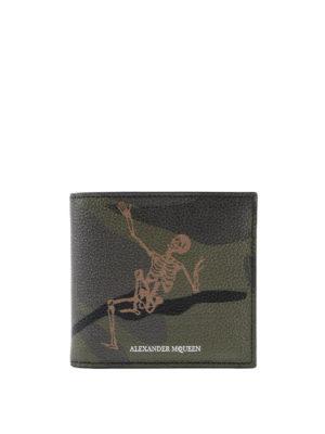 ALEXANDER MCQUEEN: portafogli - Portafoglio Dancing Skeleton camu