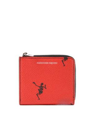 ALEXANDER MCQUEEN: portafogli - Portamonete Dancing Skeleton rosso