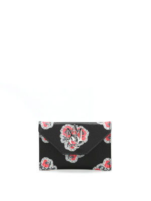 Alexander Mcqueen: wallets & purses - Insigna leather card holder