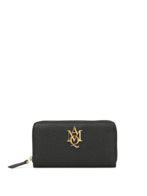 Alexander Mcqueen: wallets & purses - Insignia leather continental wallet
