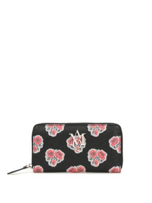 Alexander Mcqueen: wallets & purses - Insignia poppy print leather wallet