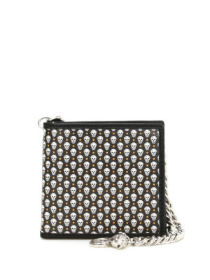 Alexander Mcqueen: wallets & purses - Leather Skull print wallet