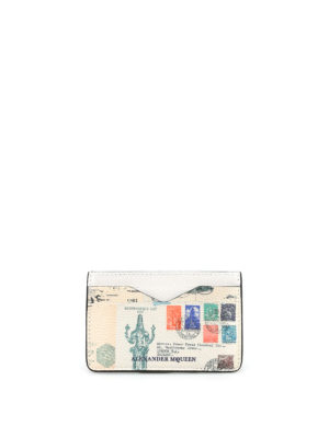 Alexander Mcqueen: wallets & purses - Letters from India card holder