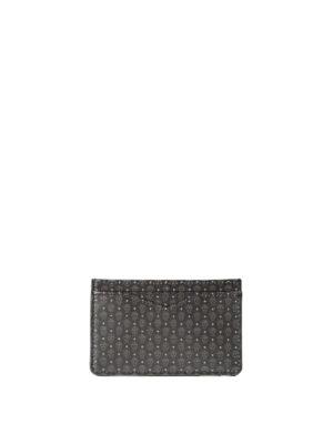 Alexander Mcqueen: wallets & purses - Micro Skull pattern card holder