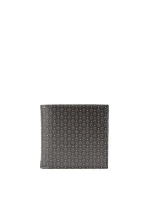 Alexander Mcqueen: wallets & purses - Micro Skull pattern leather wallet