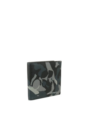 Alexander Mcqueen: wallets & purses online - Camouflage leather wallet