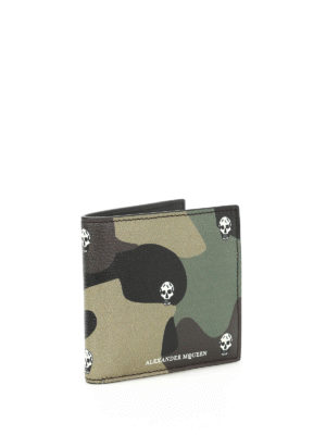 Alexander Mcqueen: wallets & purses online - Camu print leather bi-fold wallet